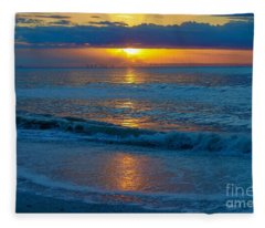 Brilliant Sunrise Fleece Blanket