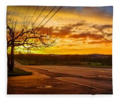 Broadway Sunrise Fleece Blanket