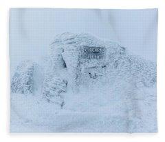 Brocken Summit Stone, Harz Fleece Blanket