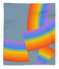 Broken Rainbow Fleece Blanket