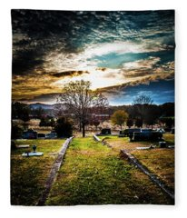Brooding Sky Over Cemetery Fleece Blanket