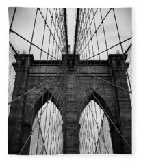 Brooklyn Bridge Wall Art Fleece Blanket