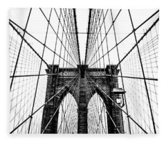 Brooklyn Bridge Web Fleece Blanket