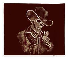 Brown Bones Fleece Blanket