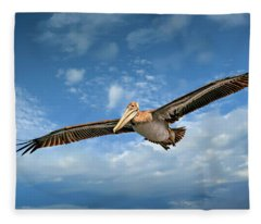 Brown Pelican Four Fleece Blanket