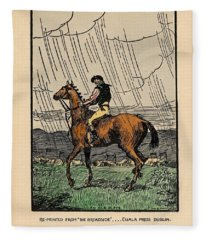 Brown Stallion, Omey Fleece Blanket