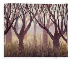 Brownish Forest Fleece Blanket