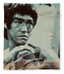 Bruce Lee Fleece Blanket