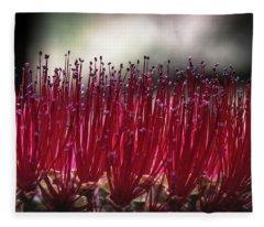 Brush Flower Fleece Blanket