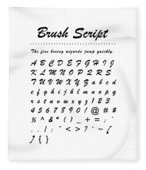 Brush Script - Most Wanted Fleece Blanket