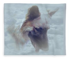 Buce In Clouds Fleece Blanket
