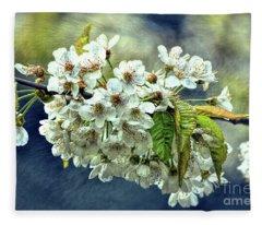 Budding Blossoms Fleece Blanket