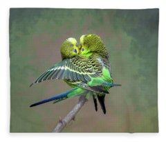 Budgie Love Fleece Blanket