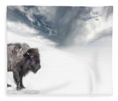 Buffalo Winter Fleece Blanket