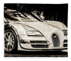 Bugatti Legend - Veyron Special Edition -0844scl2 Fleece Blanket