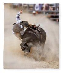 Bull Riding Fleece Blanket