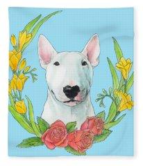 Bull Terrier Ivan Fleece Blanket