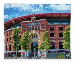 Bullring In Barcelona Fleece Blanket