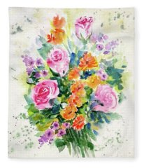 Bunch Of Flowers Fleece Blanket