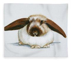 Bunny 3 Fleece Blanket