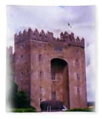 Bunratty Castle Painting Fleece Blanket