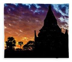 Burmese Sunset Fleece Blanket
