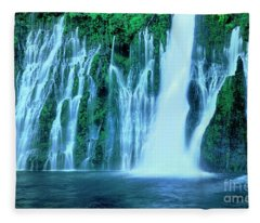Burney Falls Mcarthur Burney State Park California Fleece Blanket
