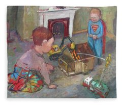 Burning Down The House Fleece Blanket