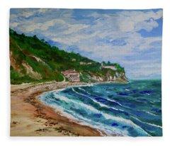 Burnout Beach, Redondo Beach California Fleece Blanket