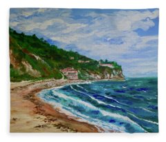Burnout Beach, Redondo Beach California Fleece Blanket