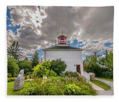 Burntcoast Head Lighthouse  Fleece Blanket