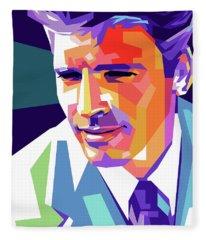 Burt Lancaster Pop Art Fleece Blanket