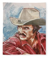 Burt Reynolds Fleece Blanket