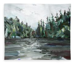 Burton Lake Fleece Blanket