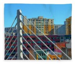 Bus Bridge Cables San Francisco Fleece Blanket