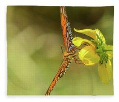 Butterfly-02 Fleece Blanket