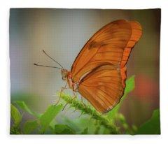 Butterfly, Delicate Wings... Fleece Blanket