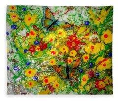 Butterfly Delight Fleece Blanket