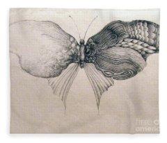 Butterfly For Jeffrey Fleece Blanket