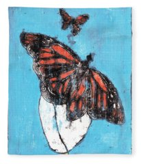 Butterfly Garden Summer 1 Fleece Blanket