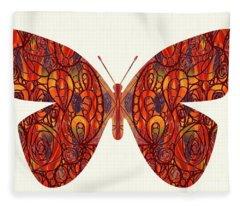 Butterfly Illustration Art - Complex Realities - Omaste Witkowski Fleece Blanket