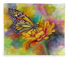 Butterfly Kiss Fleece Blanket