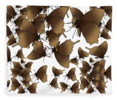 Butterfly Patterns 1 Fleece Blanket