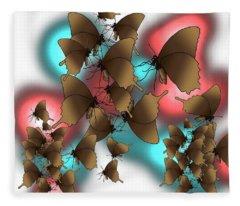 Butterfly Patterns 11 Fleece Blanket