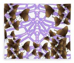 Butterfly Patterns 14 Fleece Blanket