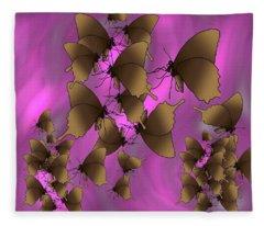 Butterfly Patterns 17 Fleece Blanket