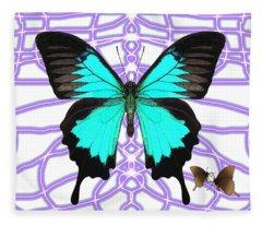 Butterfly Patterns 18 Fleece Blanket