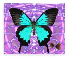 Butterfly Patterns 19 Fleece Blanket