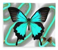 Butterfly Patterns 23 Fleece Blanket