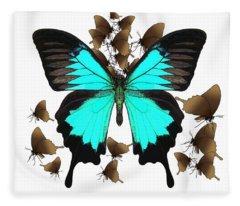 Butterfly Patterns 25 Fleece Blanket